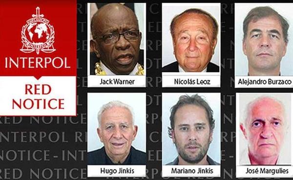 Estos son los hombres buscados por Interpol.