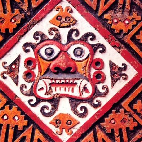 magen mural de un dios de la cultura moche o mochica (Perú).