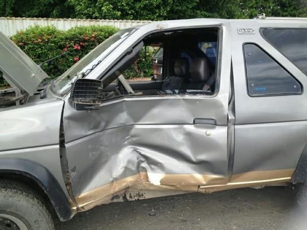 El carro quedó con un fuerte impacto. | ANDRÉS GARITA.