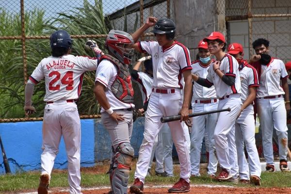 La novena de CODEA Alajuela buscará dejarse el título de béisbol de la categoría Sub 23, frente al conjunto de Mingo Snacks. Cortesía