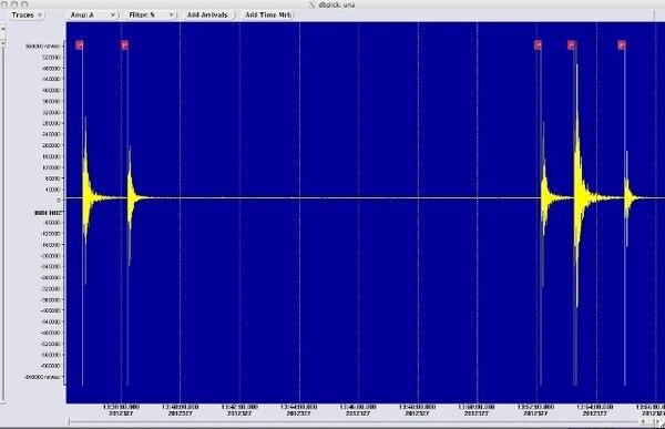 Los cinco temblores fueron registrados en la Estación INDI, ubicada en Punta Indio, cerca de Playa Carrillo. | OVSICORI.