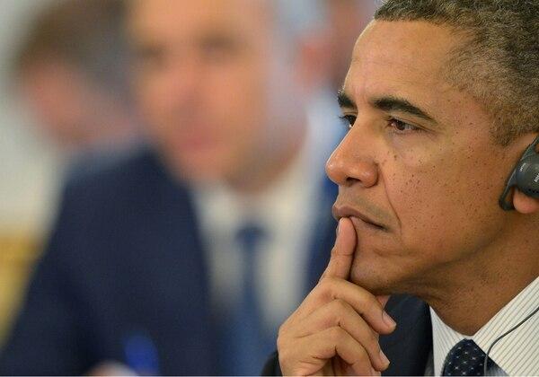 El presidente de Estados Unidos, Barack Obama, durante la cumbre del G20 en San Petersburgo, en Rusia, donde el tema de Siria concentró la atención.