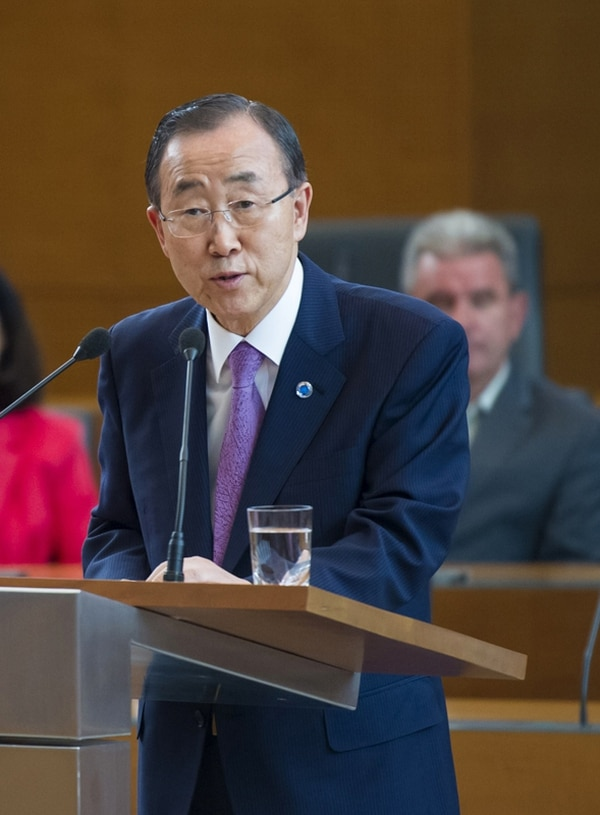 Ban Ki-moon planeaba llegar a Costa Rica a finales del 2010, pero el viaje fue cancelado. Ahora se alista la agenda para el 30 y 31 de julio.   ARCHIVO/AFP