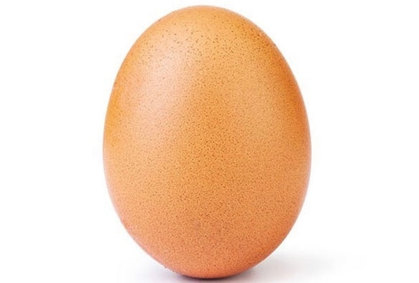 El huevo suma más de 30 de millones de 'me gusta'.Foto: Instagram.