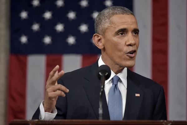 El presidente estadounidense, Barack Obama, pronunció la noche del martes su discurso sobre el Estado de la Unión en la Cámara de Representantes, en el Capitolio, en Washington.   EFE