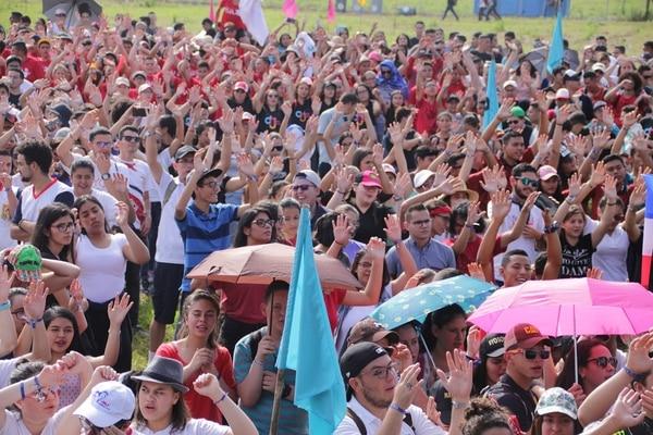 El Día Nacional de la Juventud (DNJ) fue organizado por la diócesis de Ciudad Quesada, en San Carlos. La actividad se desarrolló en la Cámara de Ganaderos de San Carlos. Foto: Cortesía