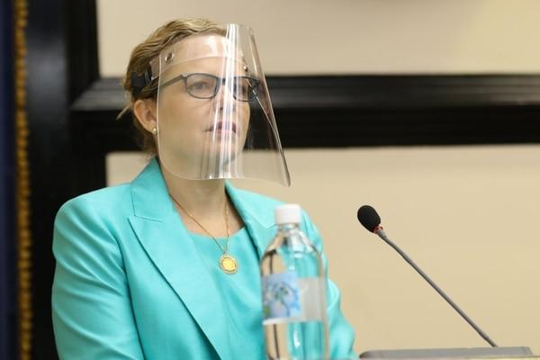 Catalina Crespo, defensora de los Habitantes. Foto: Cortesía Asamblea Legislativa.