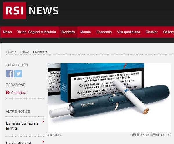 Dispositivo y cigarrillo utilizado para el mismo, que ya se comercializa en Italia y Suiza.