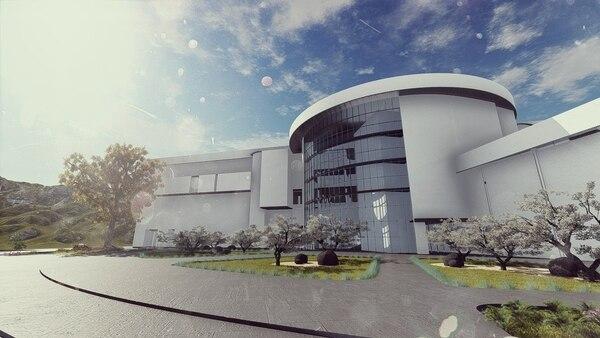 Está previsto que el nuevo edificio sea muy iluminado con el objetivo de que personal y pacientes tengan contacto con la campiña turrialbeña. Imagen: CCSS