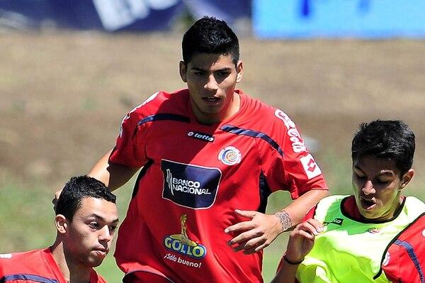 Gabriel Leiva durante una práctica de la Selección Sub-20.   ARCHIVO