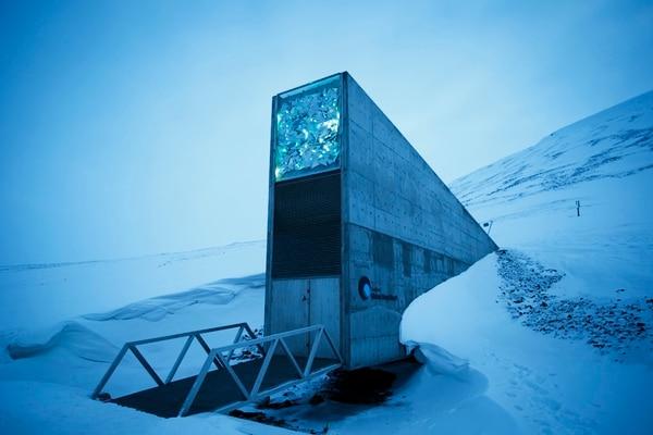 La Bóveda Global de Semillas de Svalbard, ubicada en el Ártico, se construyó en el 2008.   AP