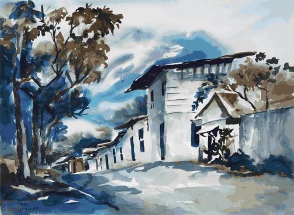 La mayoría de la exposición está compuesta por paisajes, los cuales muestran cambiantes miradas de Fabio Herrera hacia la tierra costarricense.   SAYIRA CERDAS PARA LA NACIÓN