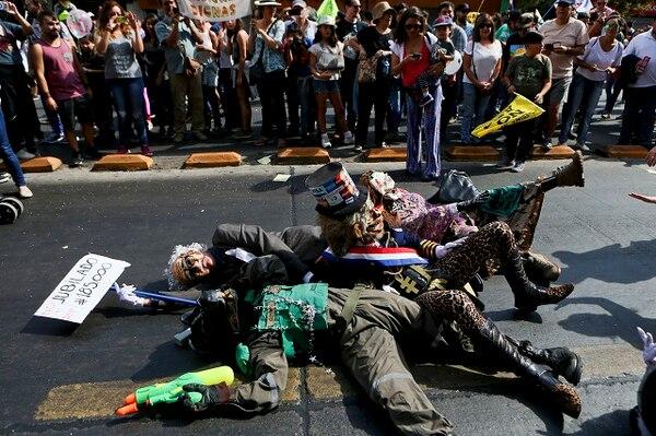 Protestas en Santiago de Chile, en contra del régimen de pensiones