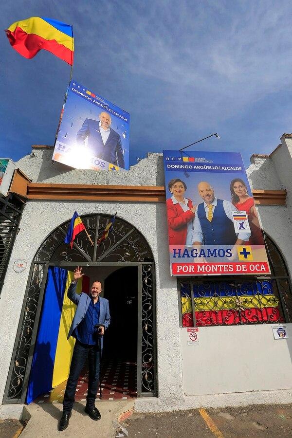 Domingo Argüello, es candidato a alcalde por el Partido Republicano Socialcristiano, en Montes de Oca. Foto: Rafael Pacheco.