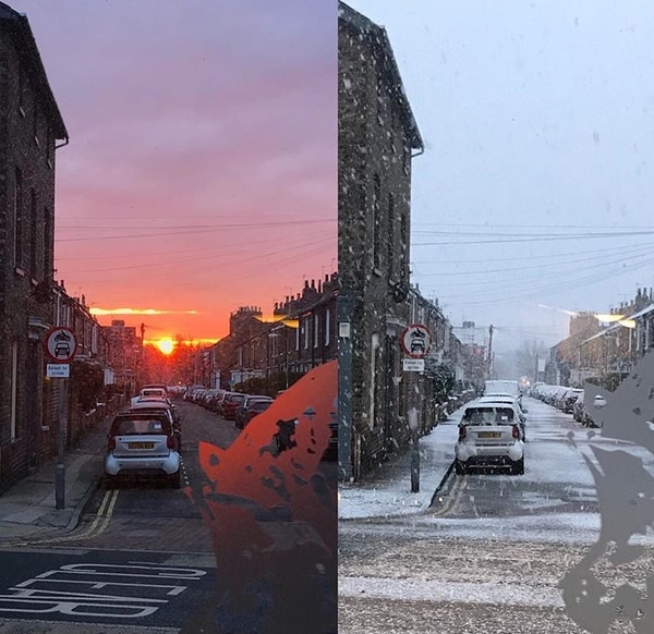 Una de las características de York es que el clima puede cambiar de un día a otro, como en esta imagen.