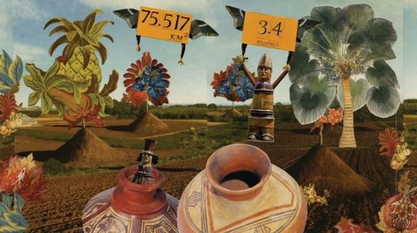'Panamá', de Pilar Moreno, es una animación que comenta la manera en que se construye la identidad nacional panameña. La obra sirve como introducción al documental 'Reinas', de la realizadora Ana Endara. Fotografía: MADC para LN.