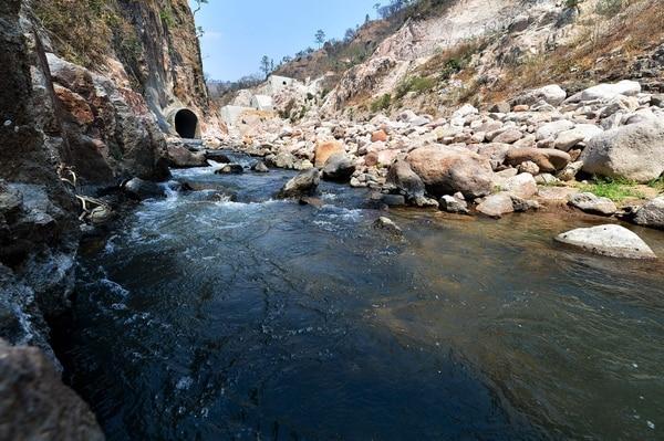 El río Grande de Reitoca es el foco del conflicto entre las comunidades de Lepaterique y Reitoca, en el sur de Honduras.