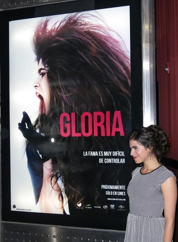 La actriz Sofía Espinosa interpreta a Gloria Trevi en la película sobre la historia de la cantante y Sergio Andrade.   AP.