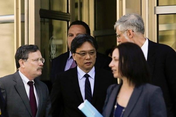 Eduardo Li en la Corte Federal del Distrito Este en Brooklyn en abril del 2016. Fotografía: AFP