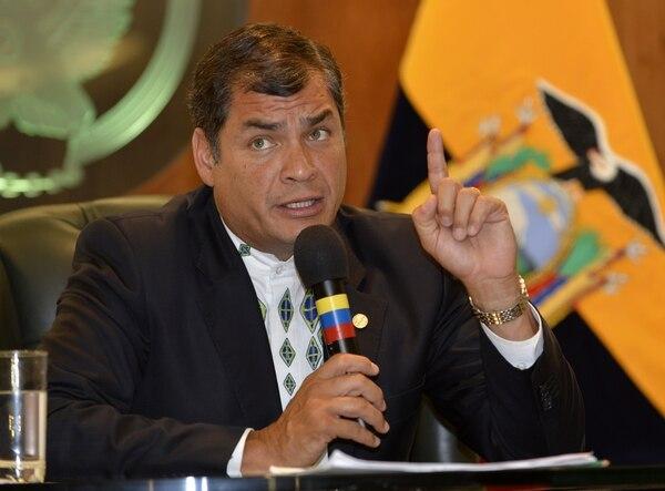 Rafael Correa, presidente de Ecuador, recordó que las preferencias del ATPDEA se convirtieron en un nuevo instrumento de chantaje