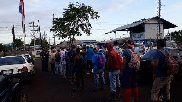 El 24 de marzo, 46 ciudadanos nicaragüenses, quienes se encontraban en condición migratoria irregular, fueron encontrados en un camión que intentaba cruza la frontera de manera ilegal. Foto: MSP