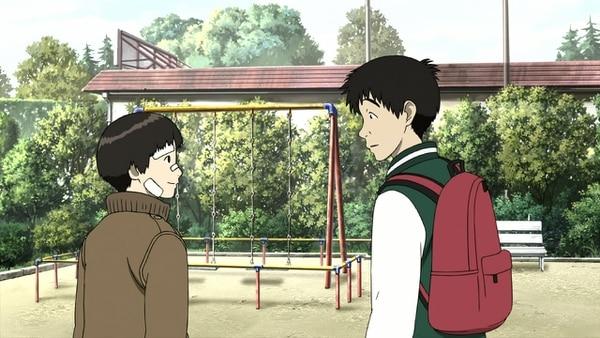 Una escena de la película 'Colorful' (2010), dirigida por Keiichi Hara. Aquí están Makoto Kobayashi y Saotome. Foto: Cortesía de Preámbulo.