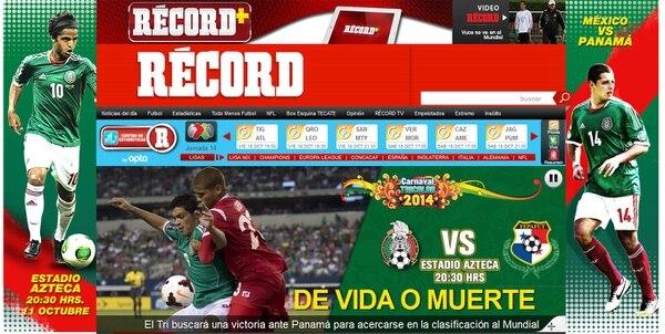 Esta es la ilustración de la nota sobre la selección de México que publicó este viernes el diario Récord.