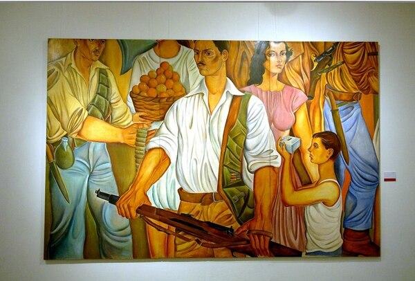 Fragmento del mural 'Alegoría de la Segunda República