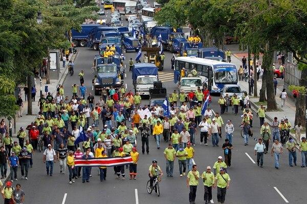 En el PAC apuntan que las cuentas negativas se deben a que Araya debilitó controles para evitar marchas como esta de junio. | ARCHIVO/ GESLINE ARANGO