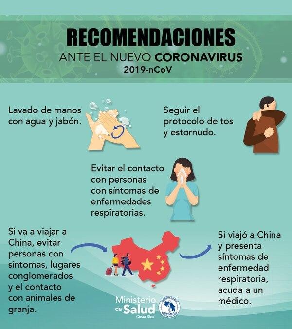 Estas son la principales recomendaciones ante el coronavirus.