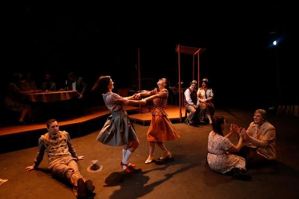 31/7/2017. San José, Teatro Nacional. Obra de teatro el diario de una niña llamada Ana Frank. Foto Adrián Soto.