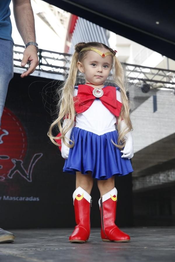 Esta tierna Sailor Moon se robó los aplausos del público en el concurso de 'cosplay'