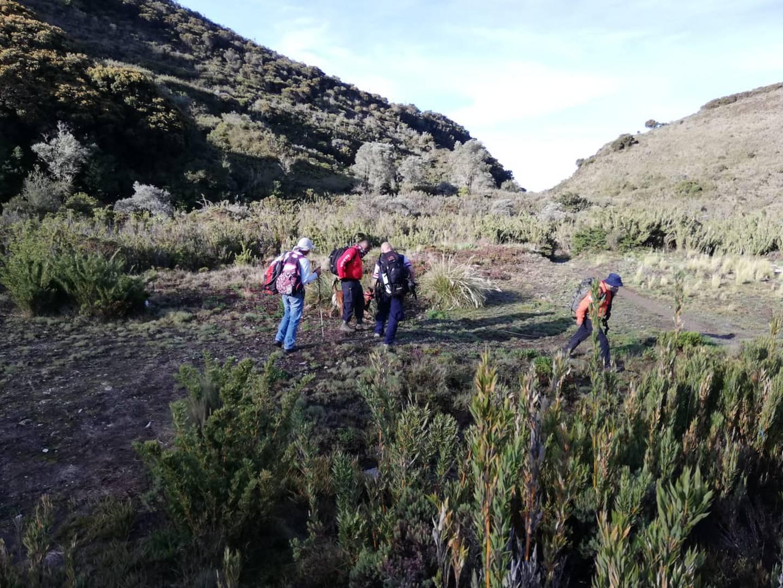 Las patrullas sumaron 112 kilómetros de caminata por diferentes sectores, hasta dar con el cuerpo de la montañista en un guindo. Foto: SINAC.