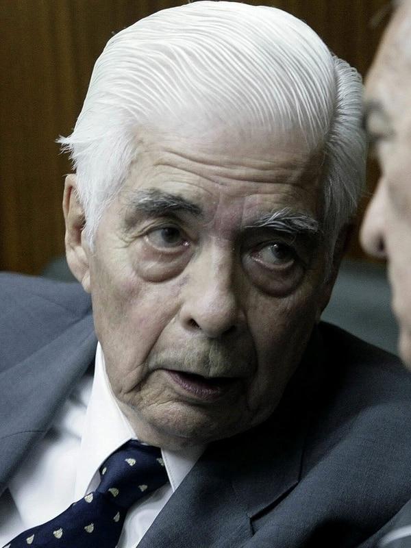 Luciano Benjamín Menéndez cuando compareció en un juicio, el 16 de febrero del 2010, en Tucumán, Argentina