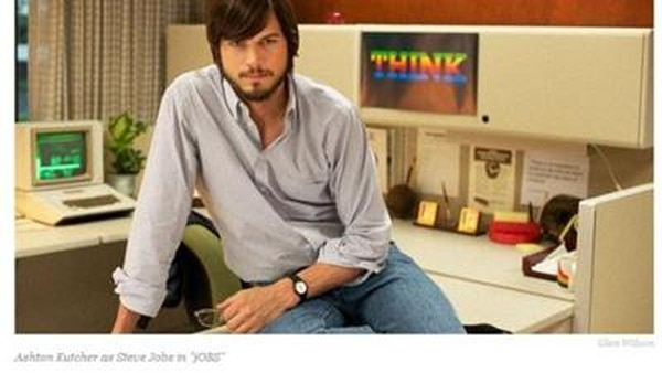 ArchivoCon una foto de Ashton Kutcher, interpretando a Steve Jobs, The Hollywood Reporter informó sobre la exhibición de jOBS en Sundance.