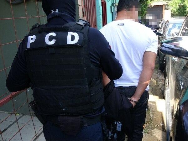 Los detenidos tenían dosis de droga y dinero en su efectivo. Foto: MSP.
