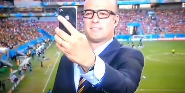 El famoso 'selfie' de Jorge Martínez en el mundial.