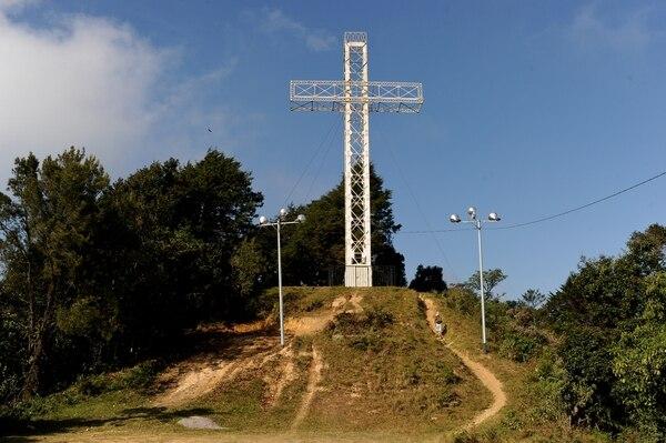 La Cruz de la Alajuelita, sitio de la masacre de 1986.
