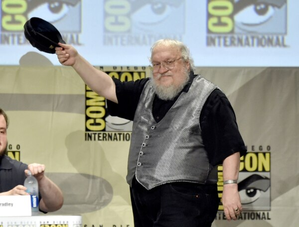 George R.R. Martin en el panel de 'Game of Thrones' en el Comic-Con 2014.