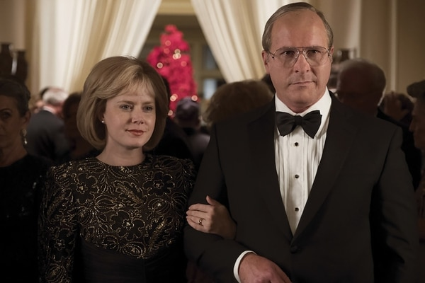 Amy Adams caracteriza a Lynne, la esposa de Dick Cheney (Bale). Cortesía de Alliance Films