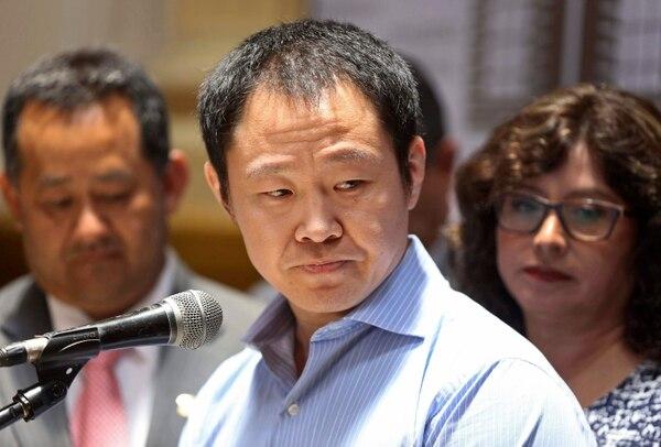 El diputado Kenji Fujimori se refirió el 31 de enero del 2018 a su expulsión del partido Fuerza Popular, que encabeza su hemana Keiko.
