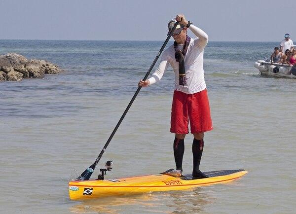 Benjamin Schiller Friberg llegó hoy viernes a Cayo Hueso tras superar en 28 horas los 170 kilómetros desde La Habana.