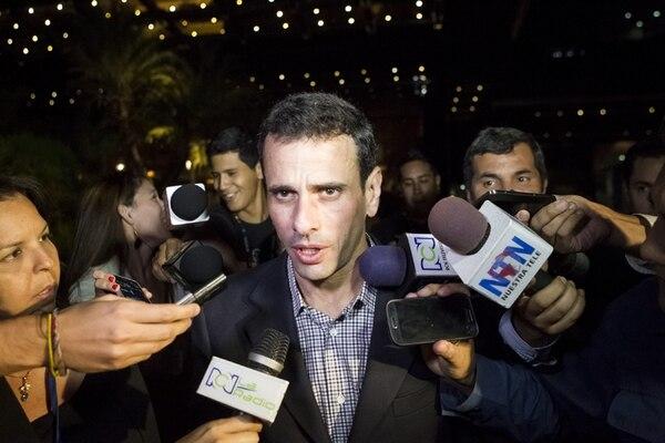 El opositor Henrique Capriles asistió a la reunión con el Gobierno. | EFE