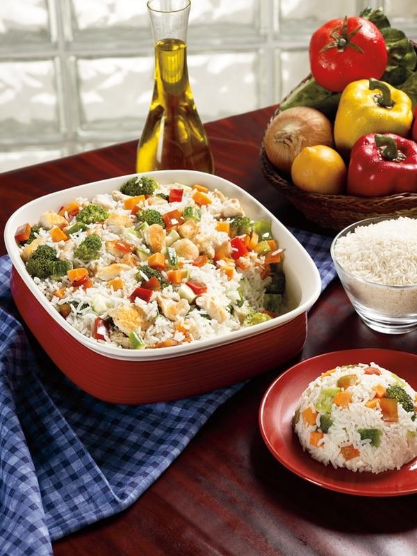 La Receta: Arroz al horno con salteado de pollo y verduras