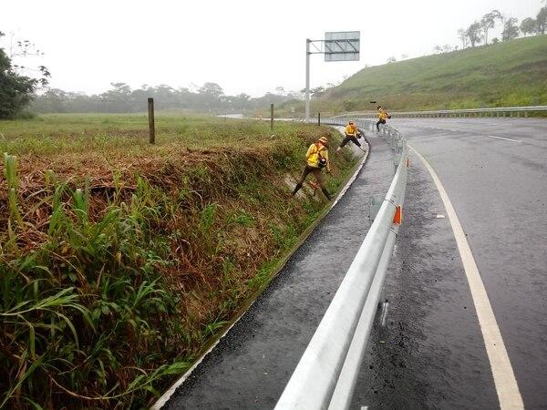 Desde este miércoles iniciaron trabajos de mantenimiento y limpieza de la vía que llevaba casi un año abandonada. Foto: Cortesía de Asociación Pro Carretera San Carlos.