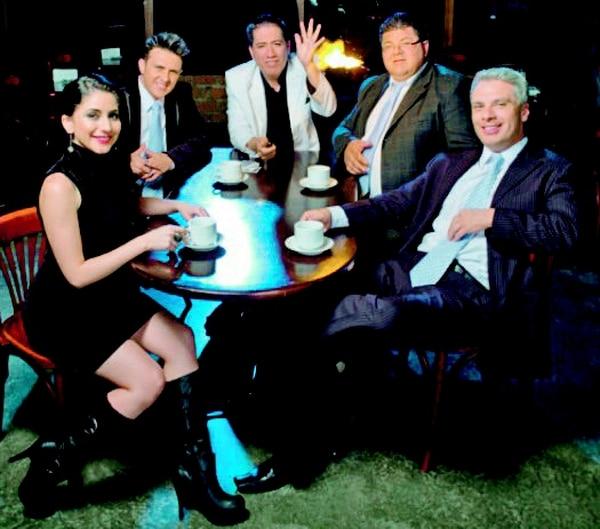 Natalia Monge, Roque Ramírez, Carlos Lorgia, Toño Hernández y Norval Calvo (de izquierda a derecha) estarán en el Melico Salazar. Luis Sanabria para LNEn julio.