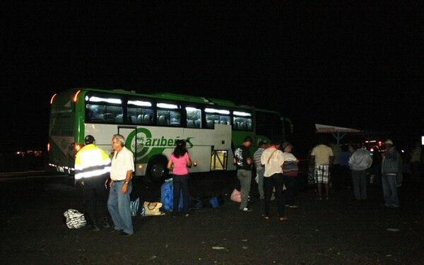 La droga se encontró durante una revisión de rutina en uno de los buses de la empresa Caribeños.