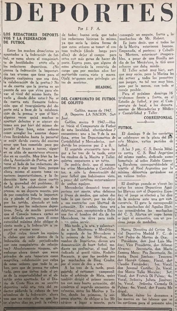 Polémica- En 1952 la Federación y la prensa estaban en conflictos.