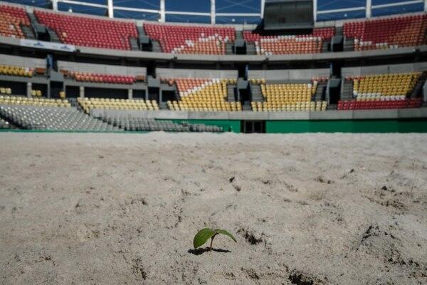 Este estadio abandonado albergó los encuentros de voleibol de playa durante los Juegos Olímpicos celebrados en Brasil.
