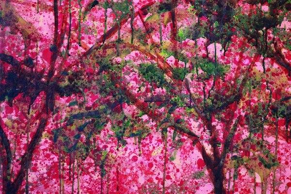 Los árboles floreados del verano también han inspirado al artista costarricense. Foto: Museo de Arte y Diseño Contemporáneo.